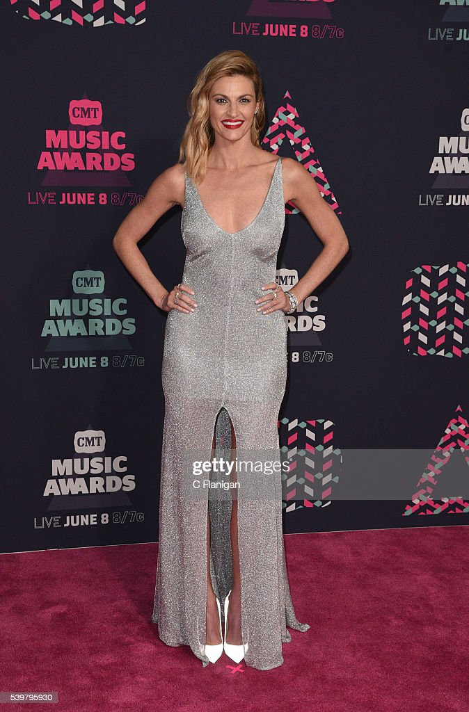 Host Erin Andrews attends the 2016 CMT Music awards at the Bridgestone Arena on June 8 2016 in Nashville Tennessee