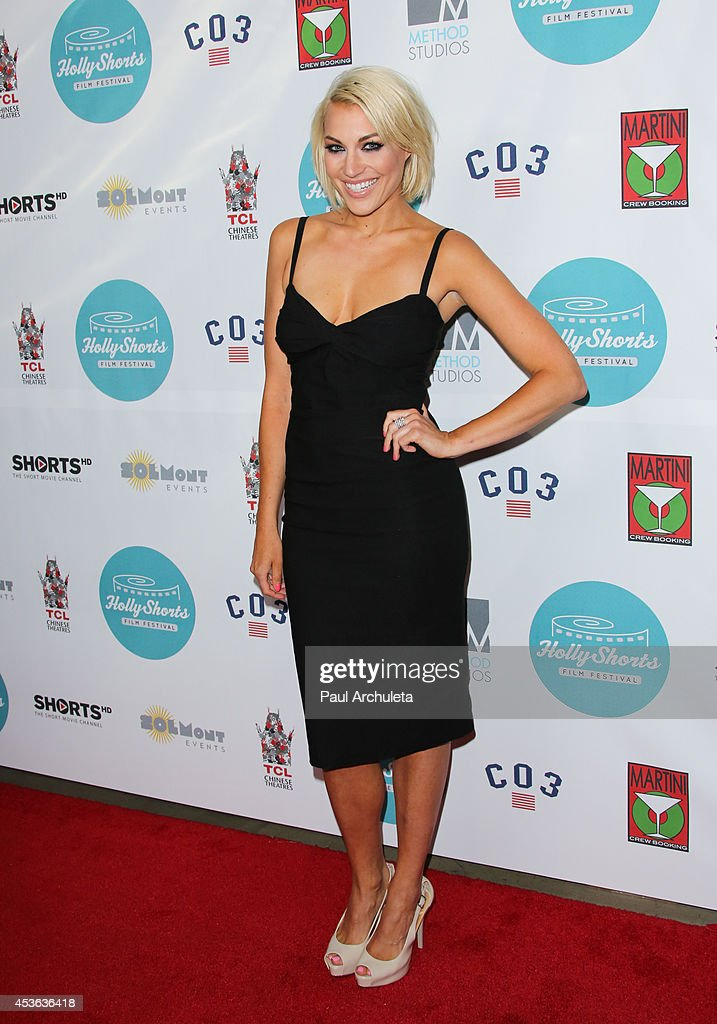 TV Host Erin Darling attends the HollyShorts opening night gala at the TCL Chinese Theatre on August 14, 2014 in Hollywood, California.