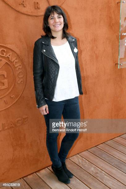 TV host Estelle Denis attends the Roland Garros French Tennis Open 2014 Day 3 on May 27 2014 in Paris France