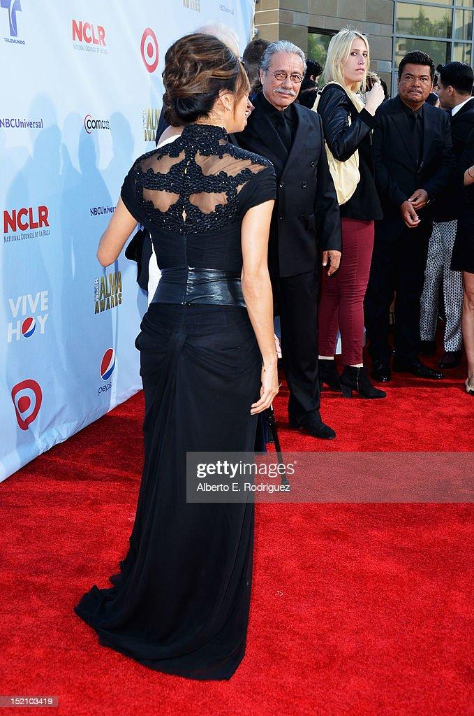Host Eva Longoria (fashion detail) arrives at the 2012 NCLR ALMA Awards at Pasadena Civic Auditorium on September 16, 2012 in Pasadena, California.