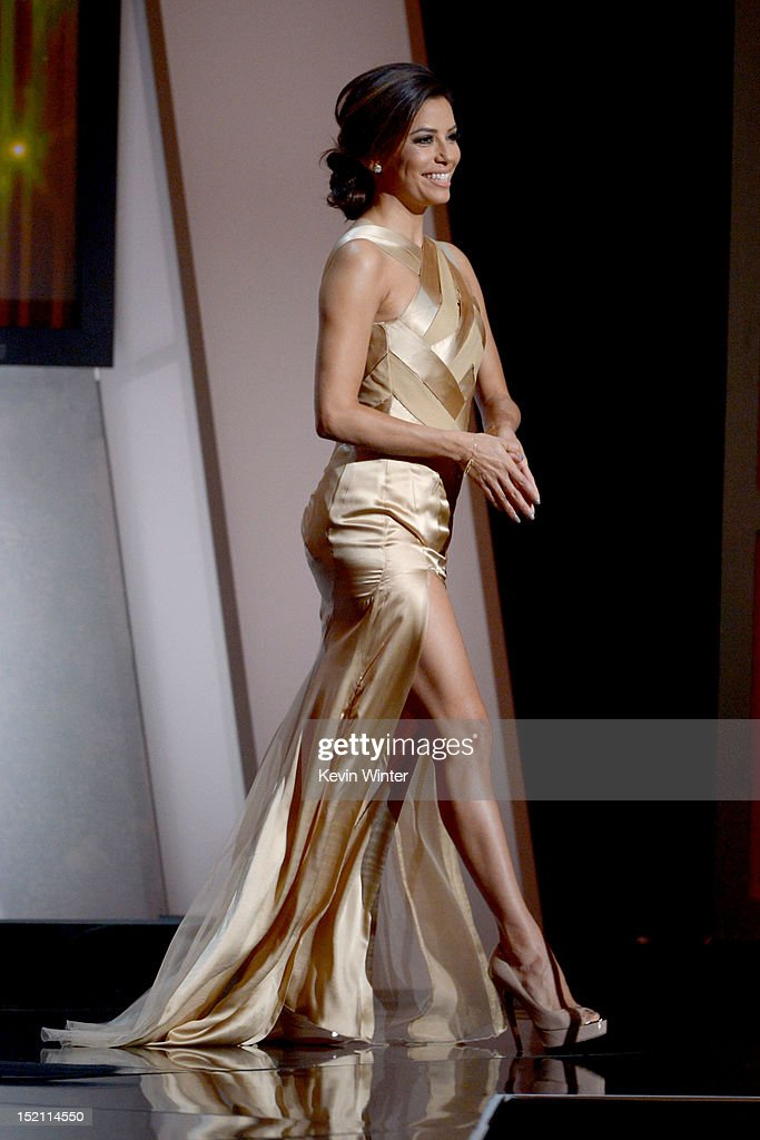Host <a gi-track='captionPersonalityLinkClicked' href=/galleries/search?phrase=Eva+Longoria&family=editorial&specificpeople=202082 ng-click='$event.stopPropagation()'>Eva Longoria</a> speaks onstage at the 2012 NCLR ALMA Awards at Pasadena Civic Auditorium on September 16, 2012 in Pasadena, California.