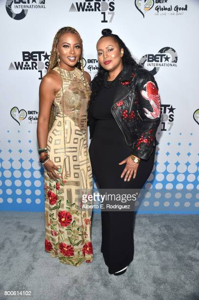 Host Eva Marcille and BET International Vice President Programming Brand Advancement Ava L Hall attend the 2017 BET International Awards Presentation...