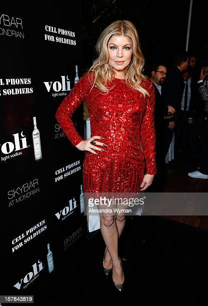 Host Fergie attends Voli Light Vodka's Holiday Party hosted by Fergie Benefiting Cellphones for Soldiers at SkyBar at the Mondrian Los Angeles on...