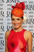 Host for the event Kate Waterhouse poses at the David Jones High Tea Spring Millinery Event at David Jones Bourke Street Mall on October 12 2012 in...