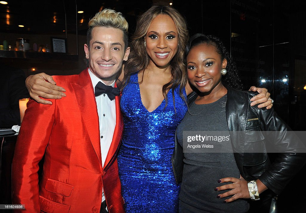 Host Frankie Grande, singer Deborah Cox and actress Naturi Naughton attend the opening night after party of 'Jekyll & Hyde' held at Beso on February 12, 2013 in Hollywood, California.
