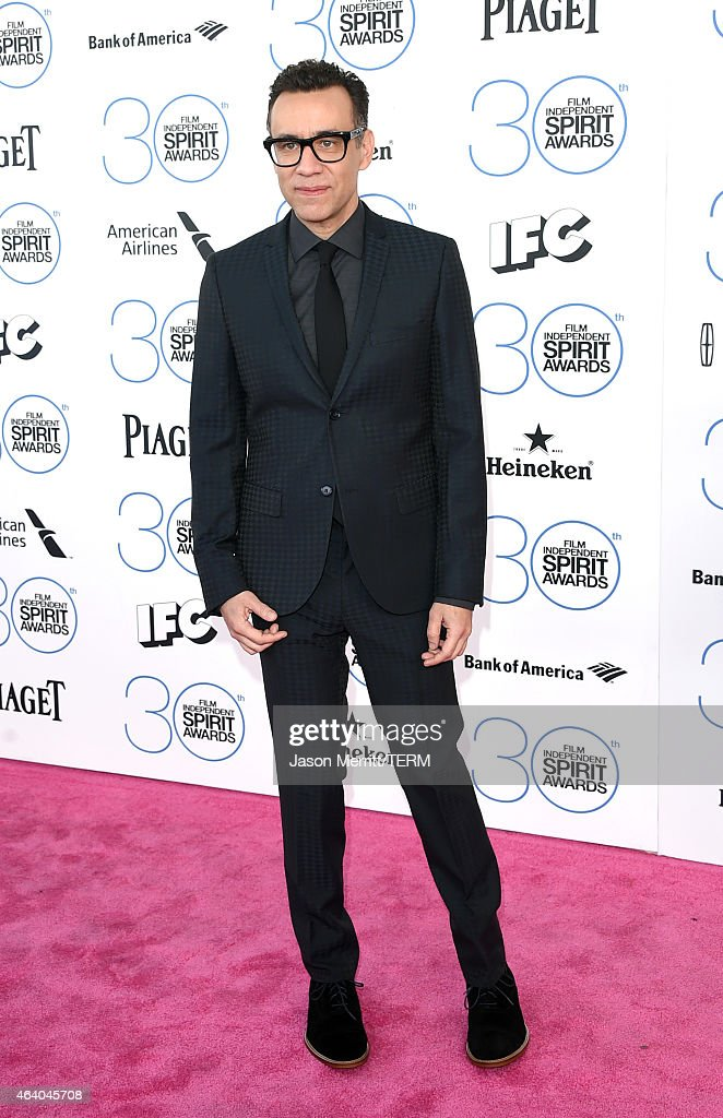 Host Fred Armisen attends the 2015 Film Independent Spirit Awards at Santa Monica Beach on February 21 2015 in Santa Monica California
