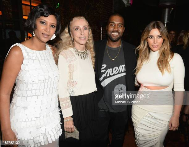 Host Gelila Assefa Puck honoree Franca Sozzani recording artist Kanye West and Kim Kardashian attend Dream for Future Africa Foundation Inaugural...