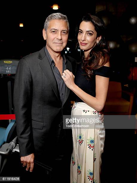 Host George Clooney and lawyer Amal Clooney attend the MPTF 95th anniversary celebration with 'Hollywood's Night Under The Stars' at MPTF Wasserman...