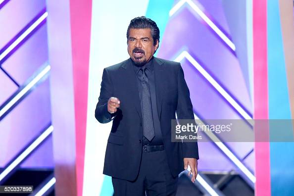 Host George Lopez speaks onstage during the 2016 TV Land Icon Awards at The Barker Hanger on April 10 2016 in Santa Monica California
