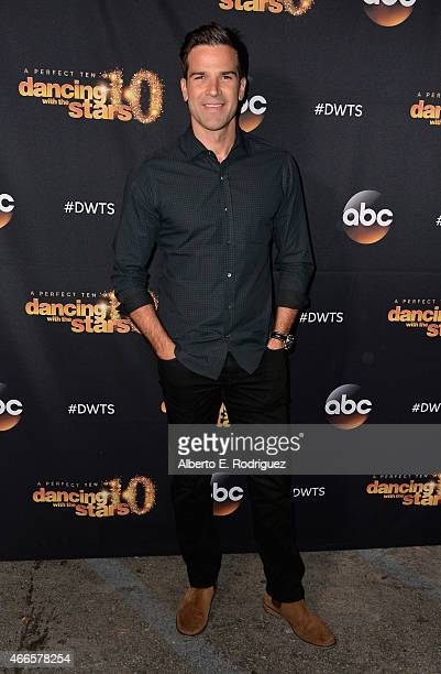 TV host Gethin Jones attends the premiere of ABC's 'Dancing With The Stars' season 20 at HYDE Sunset Kitchen Cocktails on March 16 2015 in West...