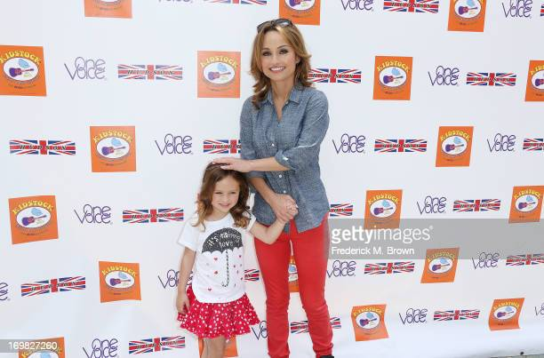 Host Giada De Laurentiis and her daughter attend the Seventh Annual Kidstock Music and Art Festival to benefit One Voice Scholars at the Greystone...
