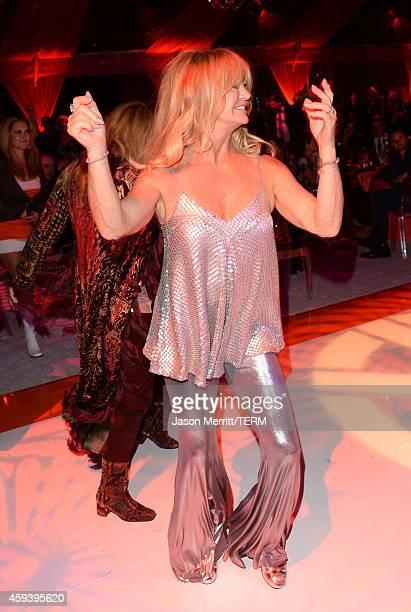 Host Goldie Hawn dances at her inaugural 'Love In For Kids' benefiting the Hawn Foundation's MindUp program transforming children's lives for greater...