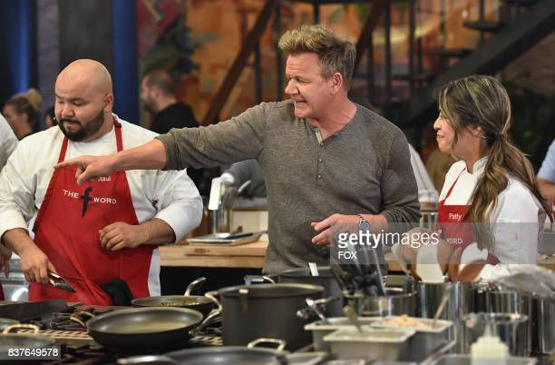 Host Gordon Ramsay with contestants in the allnew Episode Eight episode of THE F WORD WITH GORDON RAMSAY airing Wednesday July 26 on FOX