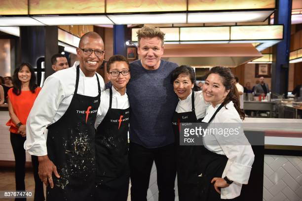 Host Gordon Ramsay with contestants in the Episode Six episode of THE F WORD WITH GORDON RAMSAY airing Wednesday July 14 on FOX