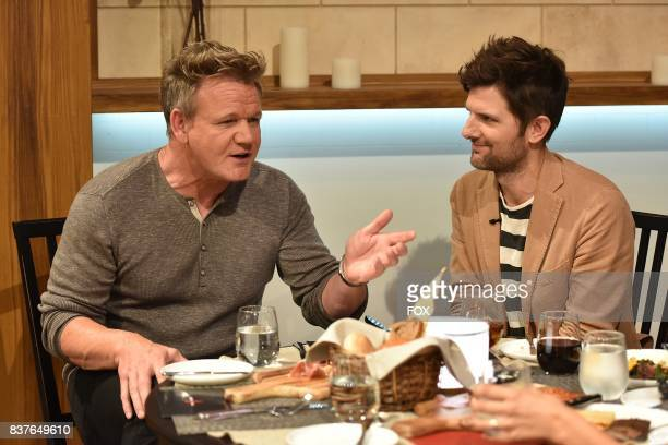 Host Gordon Ramsay with special guest Adam Scott in the allnew Episode Eight episode of THE F WORD WITH GORDON RAMSAY airing Wednesday July 26 on FOX
