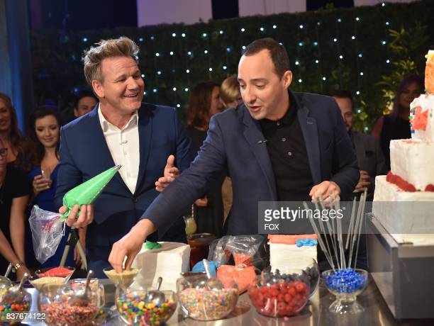 Host Gordon Ramsay with special guest Tony Hale in the allnew Episode Eleven episode of THE F WORD WITH GORDON RAMSAY airing Wednesday August 16 on...