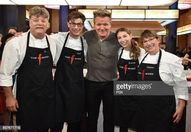 Host Gordon Ramsay with the black team in the allnew Episode Eight episode of THE F WORD WITH GORDON RAMSAY airing Wednesday July 26 on FOX