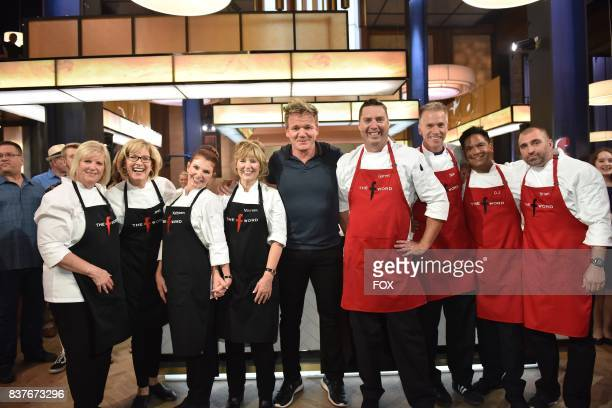 Host Gordon Ramsay with the contestants in the allnew Episode Ten episode of THE F WORD WITH GORDON RAMSAY airing Wednesday August 9 on FOX