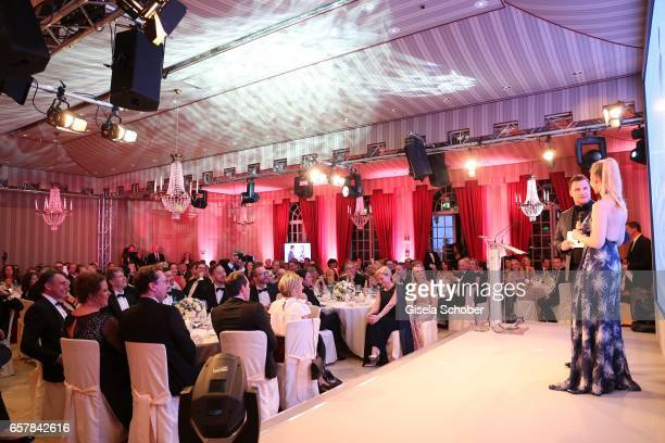 Host Guido Maria Kretschmer and Anne MeyerMinnemann EditorInChief of GALA speak on stage during the Gala Spa Awards at Brenners ParkHotel Spa on...