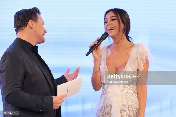Host Guido Maria Kretschmer and Verona Pooth during the Gala Spa Awards at Brenners ParkHotel Spa on March 25 2017 in BadenBaden Germany