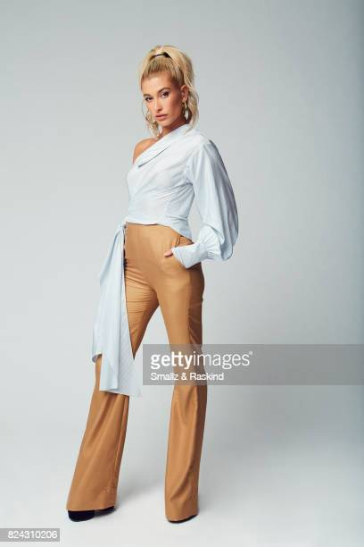 Host Hailey Baldwin of Turner Networks 'TBS Drop the Mic' poses for a portrait during the 2017 Summer Television Critics Association Press Tour at...