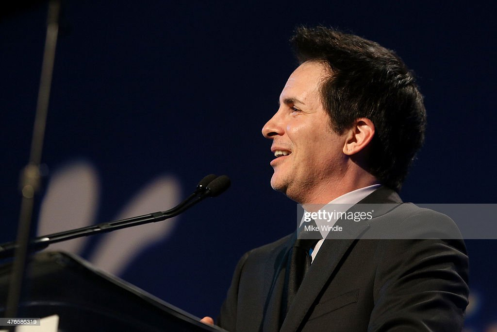 Host Hal Sparks speaks onstage at the Venice Family Clinic's 32nd Annual Silver Circle Gala held at The Beverly Hilton Hotel on March 3, 2014 in Beverly Hills, California.