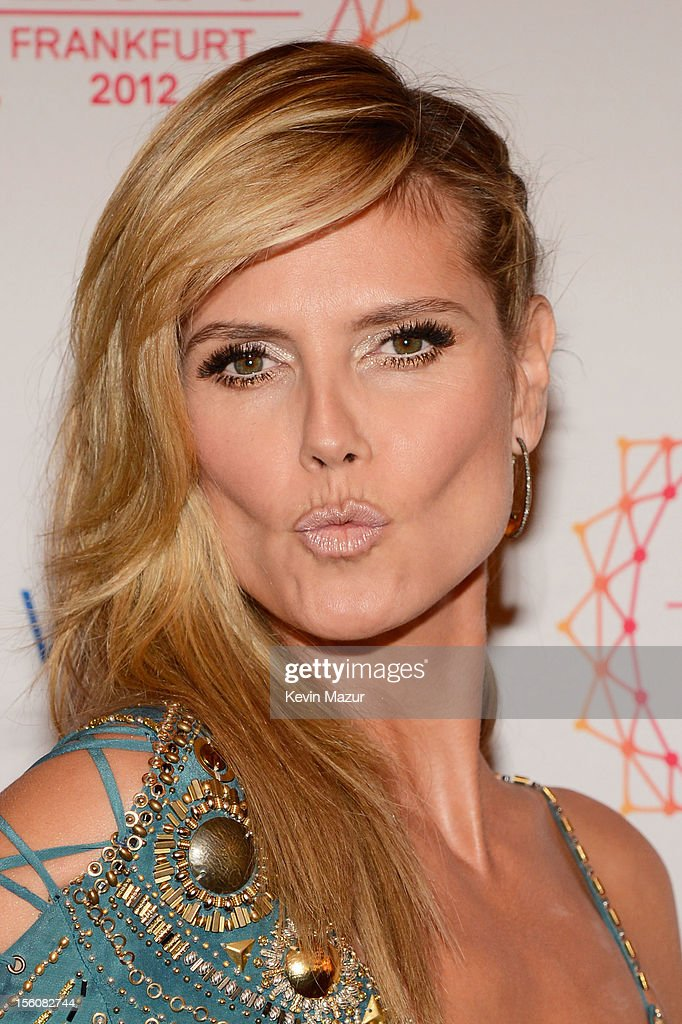 Host <a gi-track='captionPersonalityLinkClicked' href=/galleries/search?phrase=Heidi+Klum&family=editorial&specificpeople=178954 ng-click='$event.stopPropagation()'>Heidi Klum</a> attends the MTV EMA's 2012 at Festhalle Frankfurt on November 11, 2012 in Frankfurt am Main, Germany.