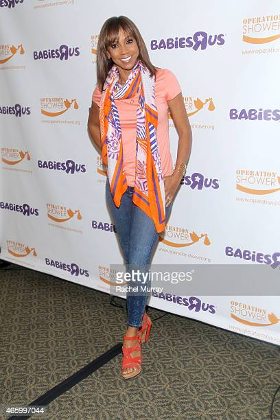 Host Holly Robinson Peete attends an Operation Shower event hosted by Holly Robinson Peete and Babies'R'Us on March 12 2015 in San Clemente California