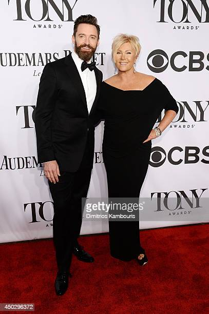 Host Hugh Jackman and DeborraLee Furness attend the 68th Annual Tony Awards at Radio City Music Hall on June 8 2014 in New York City