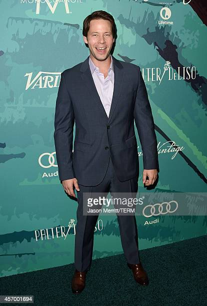 Host Ike Barinholtz attends the Variety's 2014 Power of Women Event in LA presented by Lifetime at the Beverly Wilshire Four Seasons Hotel on October...