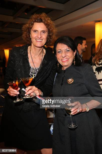 Host Innegrit Volkhardt owner of Hotel Bayerischer Hof and Regine Sixt during the summer party of and at Hotel Bayerischer Hof on July 27 2017 in...