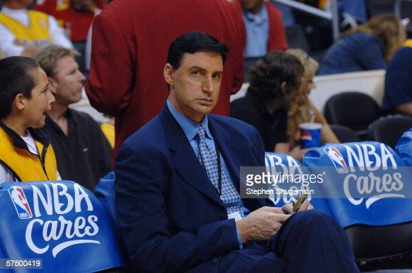 TV host Jack Haley attends the Los Angeles Lakers against the Phoenix Suns game four of the Western Conference Quarterfinals during NBA playoffs on...