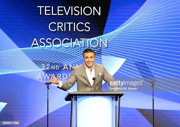 Host Jaime Camil speaks onstage at the 32nd annual Television Critics Association Awards during the 2016 Television Critics Association Summer Tour...