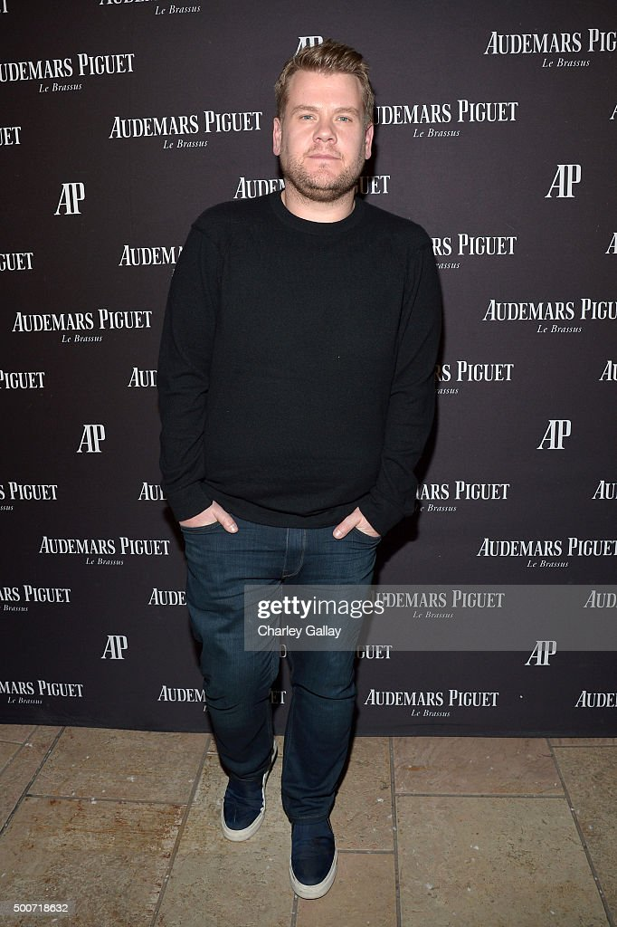 TV host <a gi-track='captionPersonalityLinkClicked' href=/galleries/search?phrase=James+Corden&family=editorial&specificpeople=673860 ng-click='$event.stopPropagation()'>James Corden</a> attends the Opening of Audemars Piguet Rodeo Drive at Audemars Piguet on December 9, 2015 in Beverly Hills, California.