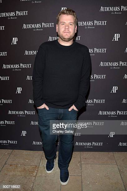 TV host James Corden attends the Opening of Audemars Piguet Rodeo Drive at Audemars Piguet on December 9 2015 in Beverly Hills California