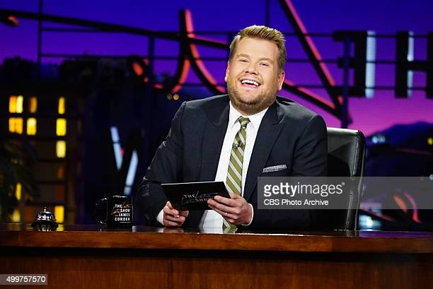 Host James Corden on 'The Late Late Show with James Corden' Wednesday November 25th 2015 on The CBS Television Network