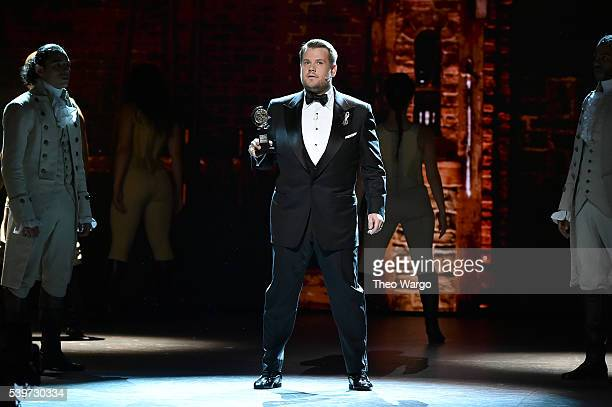 Host James Corden onstage during the 70th Annual Tony Awards at The Beacon Theatre on June 12 2016 in New York City