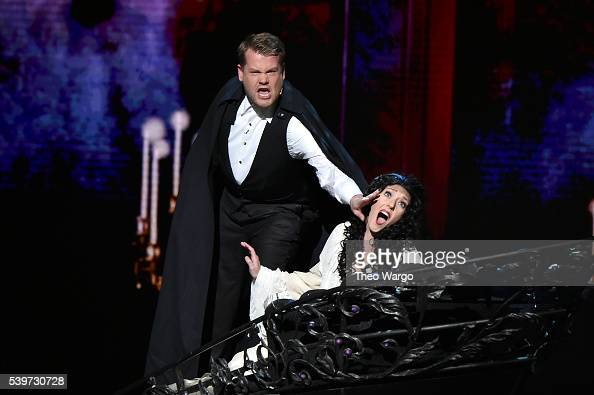 Host James Corden performs onstage during the 70th Annual Tony Awards at The Beacon Theatre on June 12 2016 in New York City