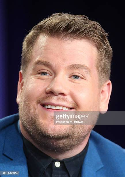 Host James Corden speaks onstage during 'The Late Late Show with James Corden'' panel as part of the CBS/Showtime 2015 Winter Television Critics...