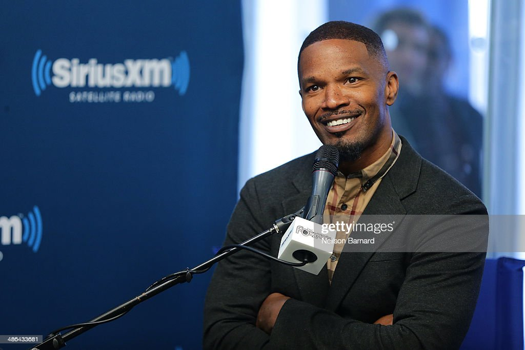 Host Jamie Foxx and the cast of 'The Amazing SpiderMan 2' answer questions from fans during a SiriusXM 'Town Hall' on SiriusXM's The Foxxhole channel...