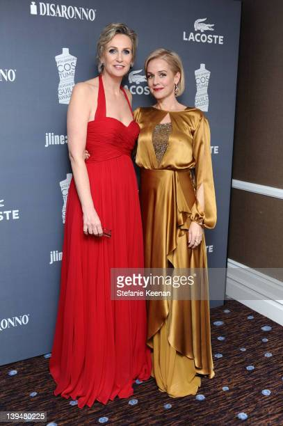Host Jane Lynch and actress Penelope Ann Miller attend the 14th Annual Costume Designers Guild Awards With Presenting Sponsor Lacoste held at The...