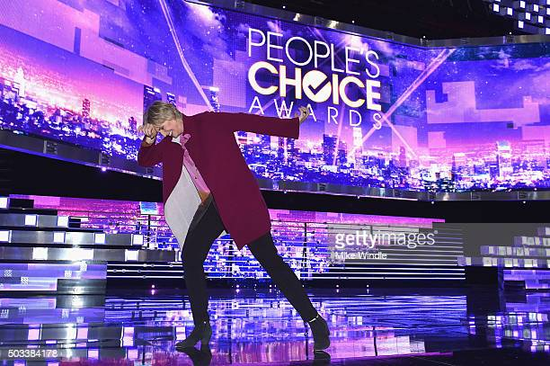 Host Jane Lynch attends the People's Choice Awards 2016 press day at Microsoft Theater on January 4 2016 in Los Angeles California