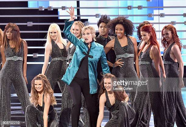 Host Jane Lynch performs onstage during the People's Choice Awards 2016 at Microsoft Theater on January 6 2016 in Los Angeles California