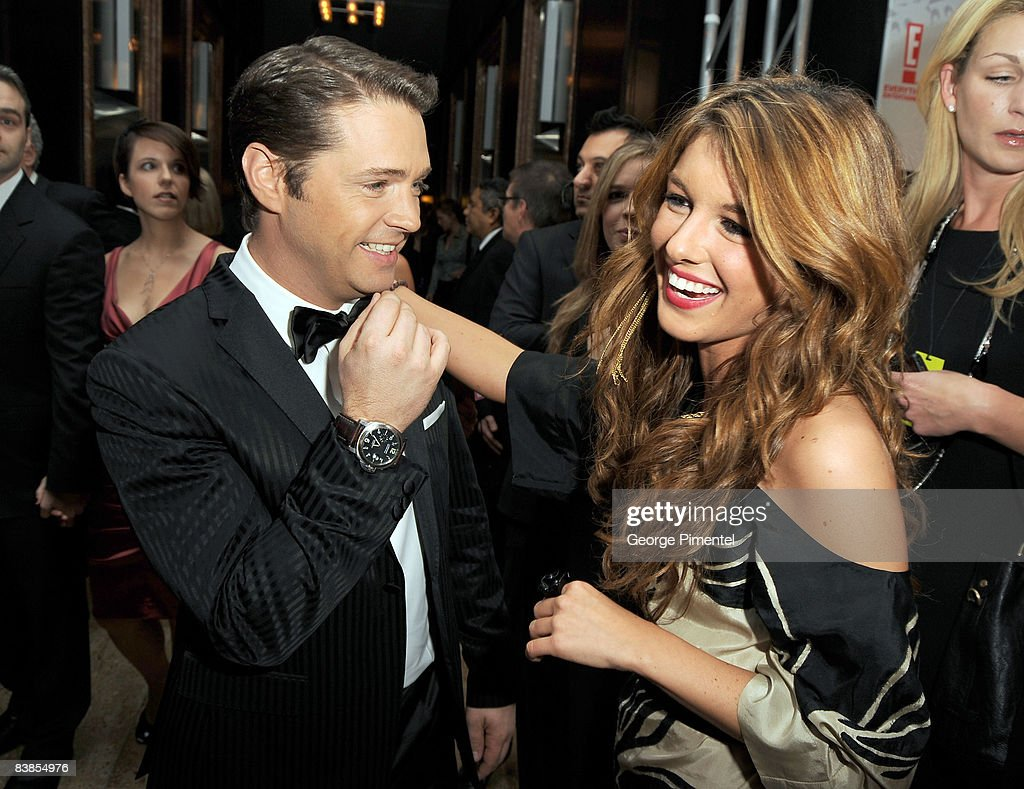 Host Jason Priestley and actress Shenae Grimes attend the 2008 Gemini Awards at the Metro Toronto Convention Centre on November 28, 2008 in Toronto, Canada.