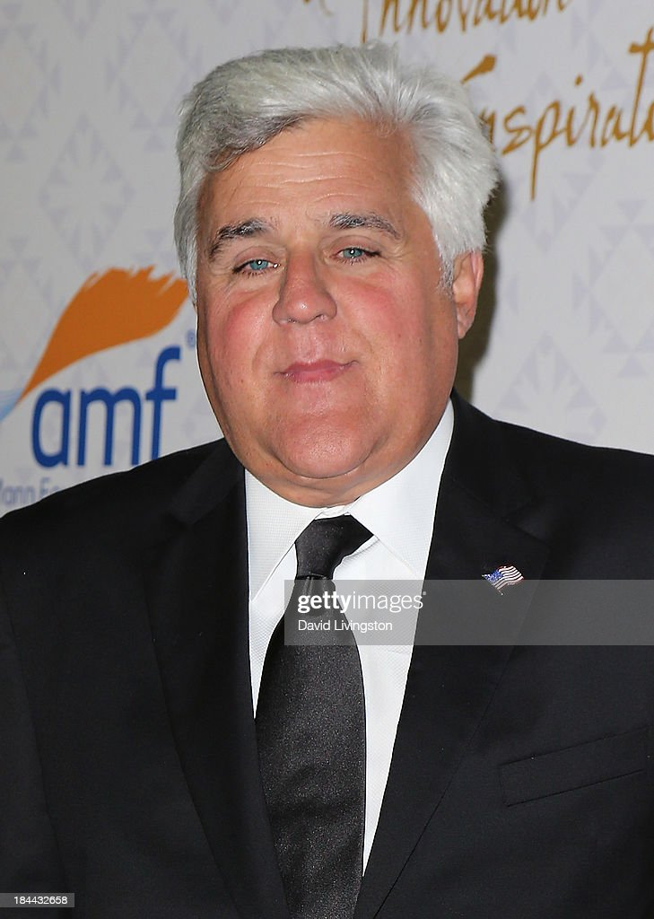 TV host Jay Leno attends the 10th Annual Alfred Mann Foundation Gala in the Robinsons-May Lot on October 13, 2013 in Beverly Hills, California.
