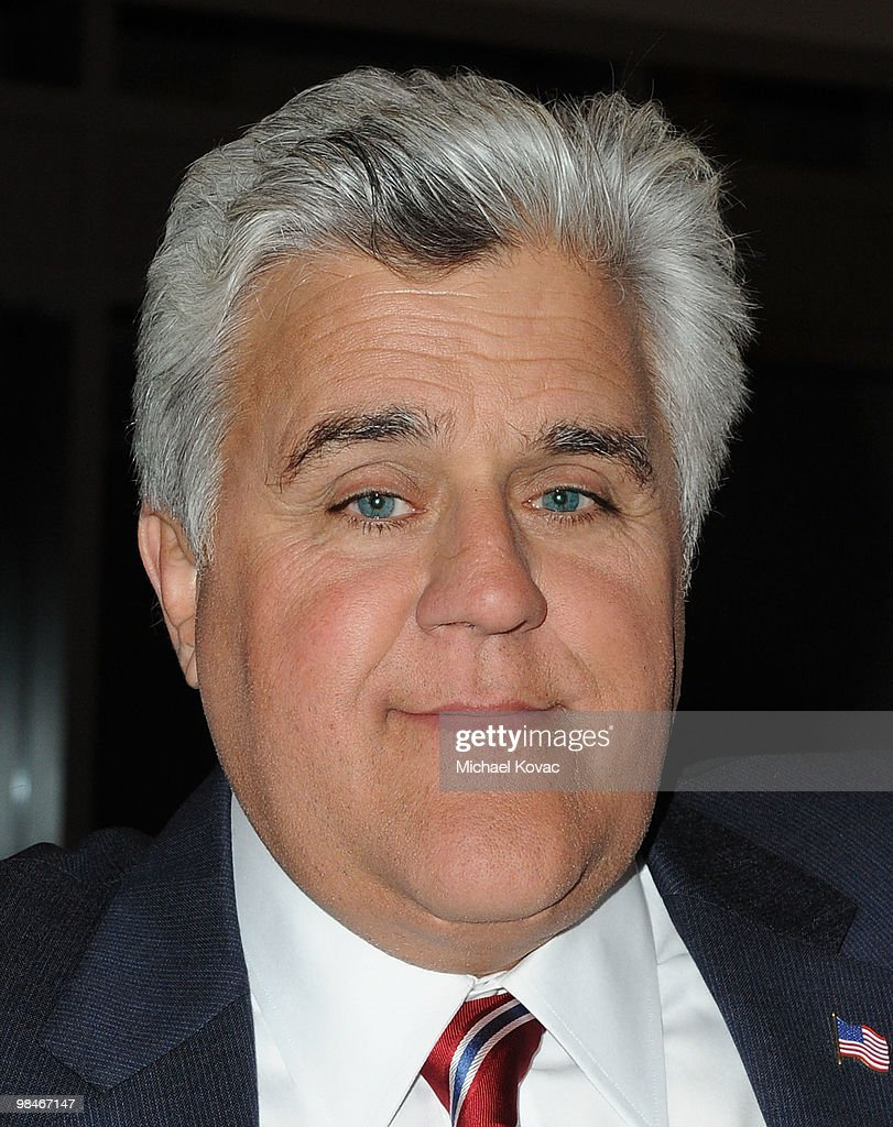 TV host Jay Leno presents at the American Women in Radio Television Southern California 2010 Genii Awards at Skirball Cultural Center on April 14...