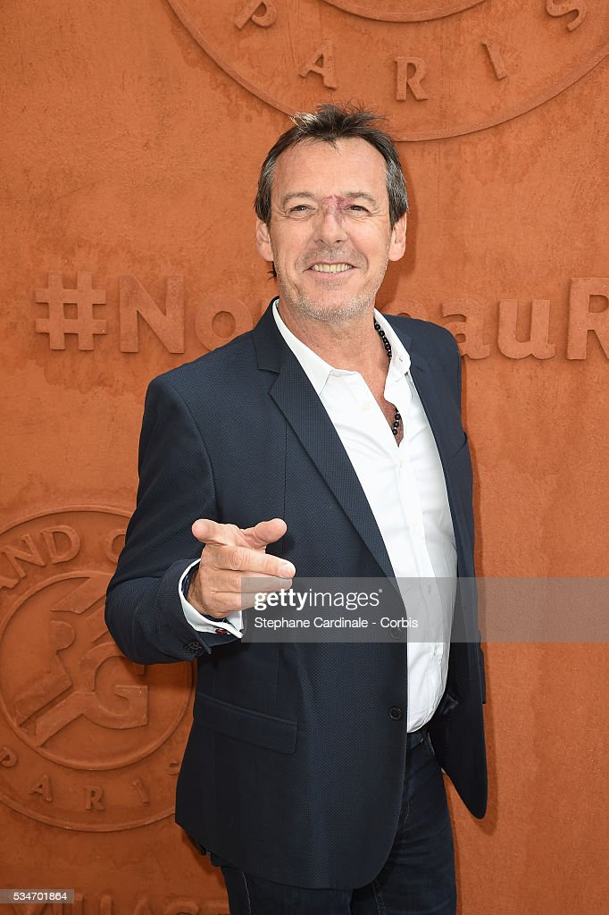 TV Host Jean-Luc Reichmann attends day six of the 2016 French Open at Roland Garros on May 27, 2016 in Paris, France.