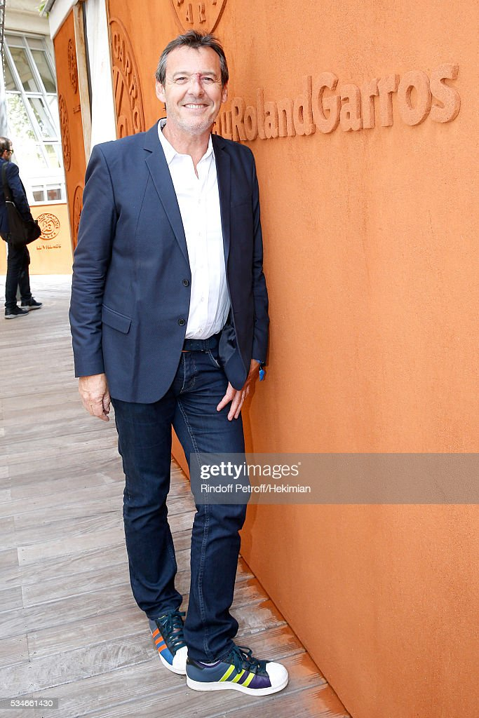 TV Host Jean-Luc Reichmann attends the 2016 French Tennis Open - Day Six at Roland Garros on May 27, 2016 in Paris, France.