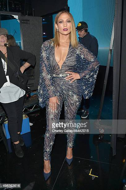 Host Jennifer Lopez attends the 2015 American Music Awards at Microsoft Theater on November 22 2015 in Los Angeles California