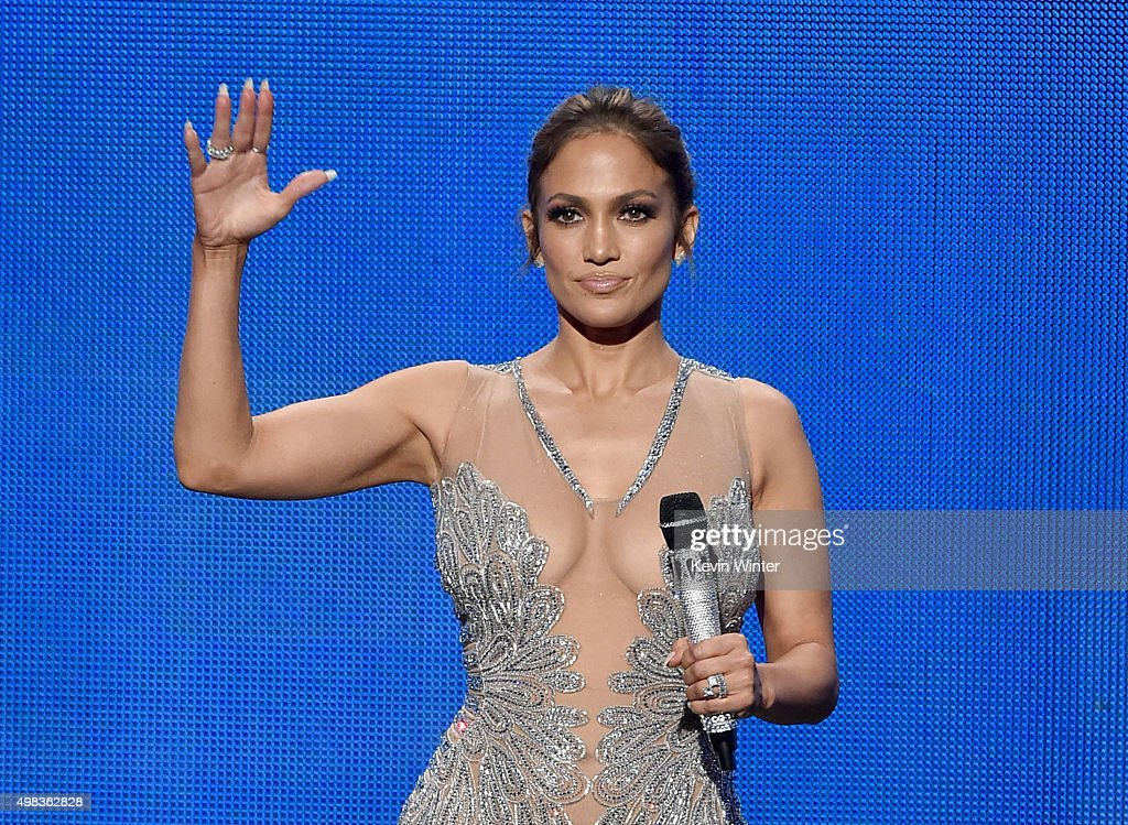 Host <a gi-track='captionPersonalityLinkClicked' href=/galleries/search?phrase=Jennifer+Lopez&family=editorial&specificpeople=201784 ng-click='$event.stopPropagation()'>Jennifer Lopez</a> speaks onstage during the 2015 American Music Awards at Microsoft Theater on November 22, 2015 in Los Angeles, California.
